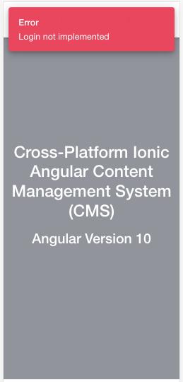 Reusable + Custom Ionic Angular Toast Message