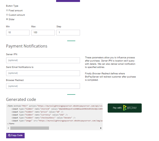 No slider over Pay button · Issue #770 · btcpayserver