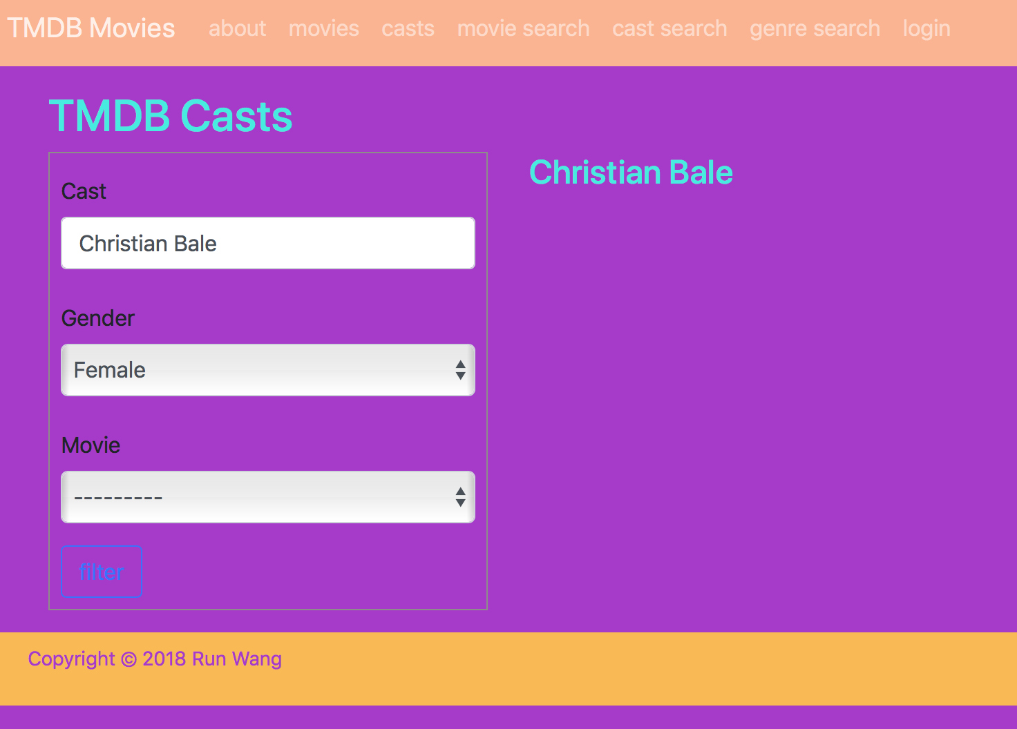Database: cast table: cast members are linked to wrong gender