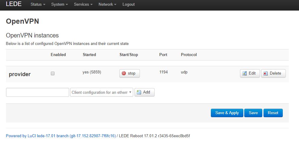 luci-app-openvpn] Can't stop OpenVPN service  It restarts
