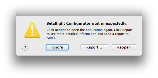 Configurator 10 3 0 fails to start on Mac OS 10 9 5 · Issue