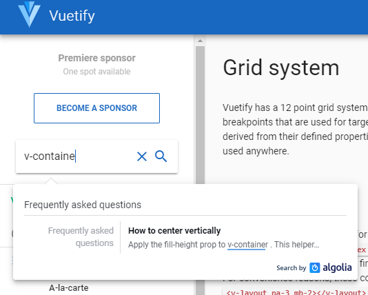 Vuetify Grid Example
