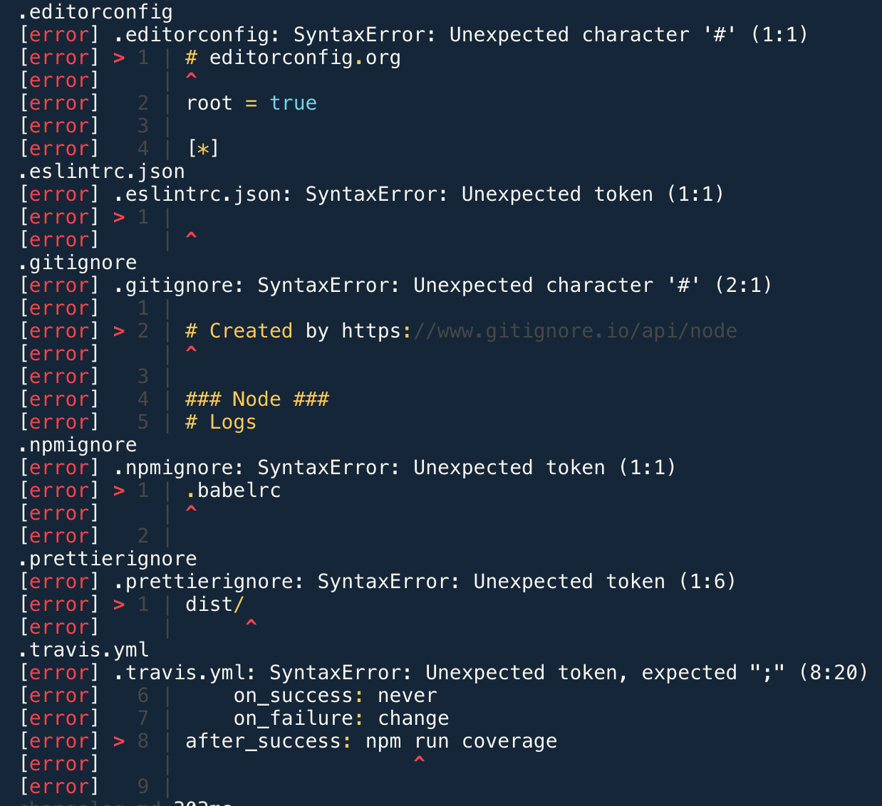 Feature: skip processing unsupported file types, for example