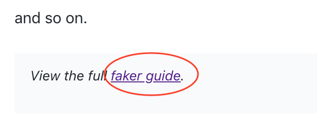 Documentation] Broken link to Serializers and Faker guides · Issue