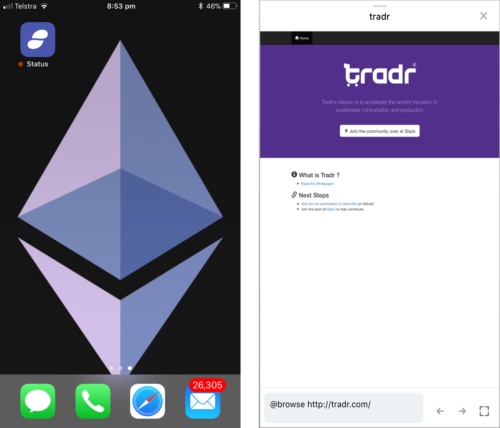 tradr-status-dapp-icon-and-browser