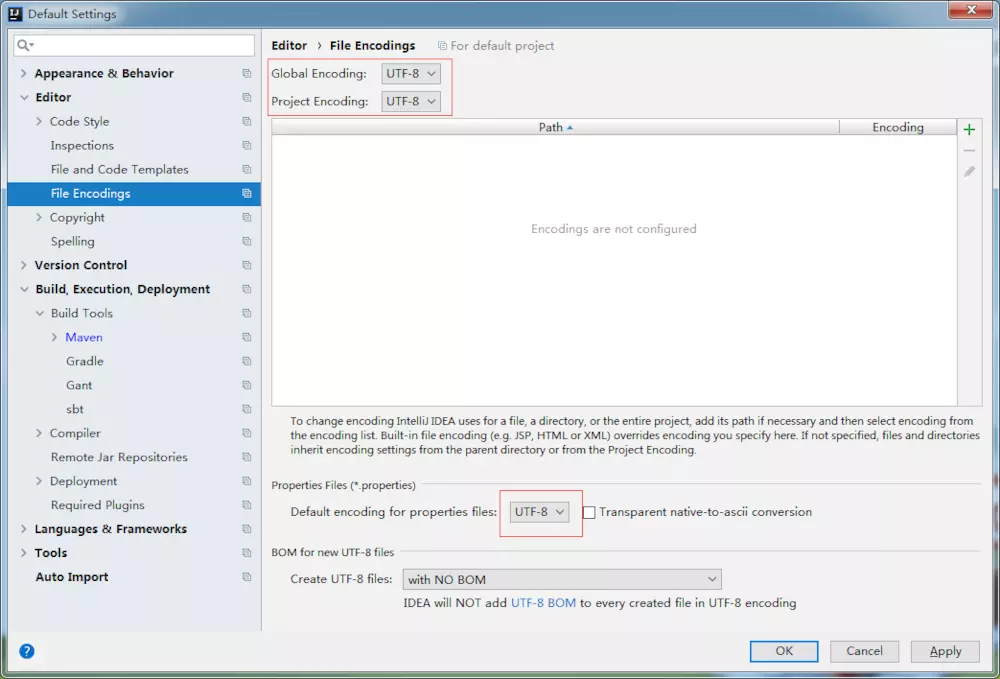 File Encoding UTF-8