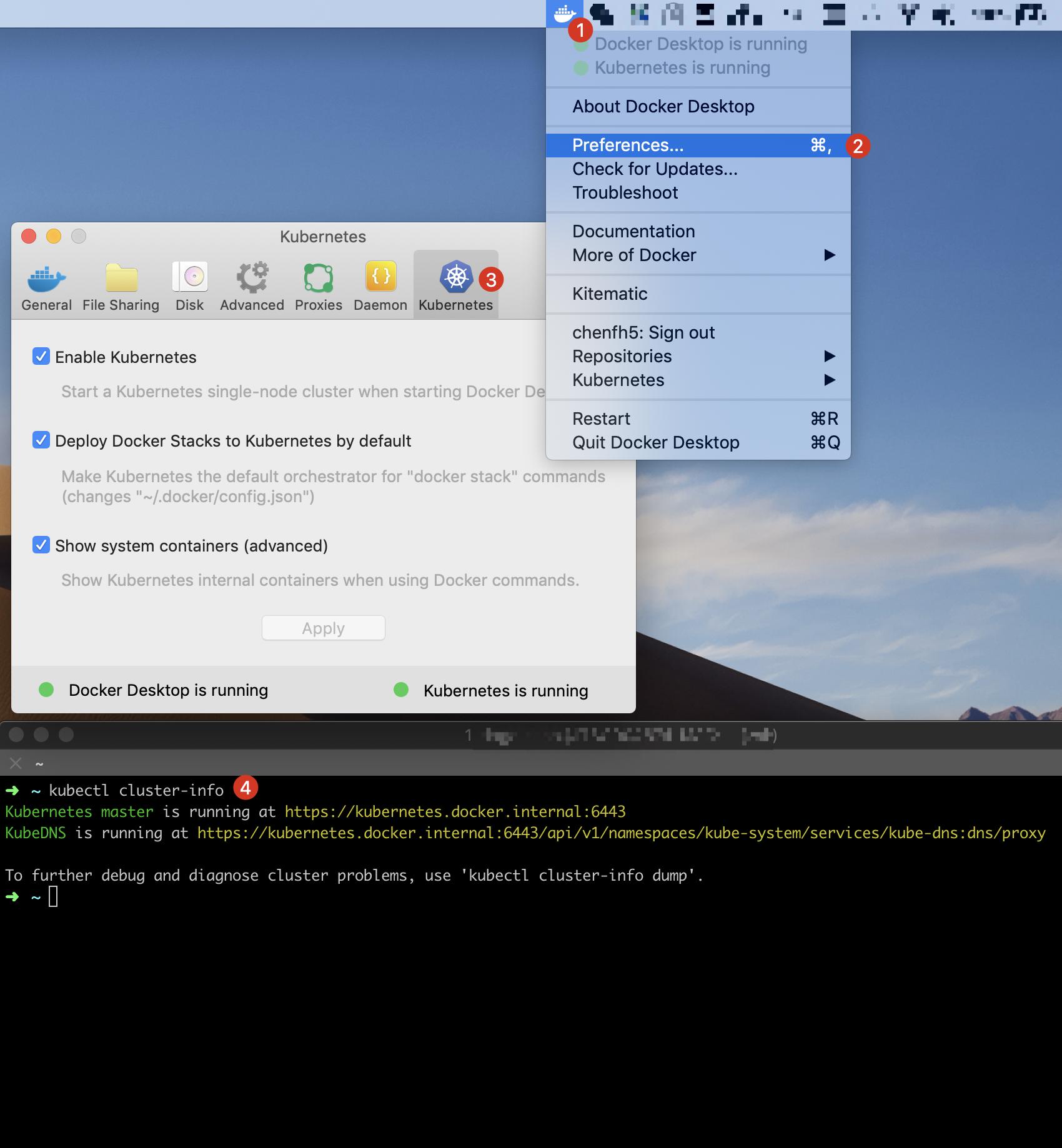 Docker Desktop install k8s