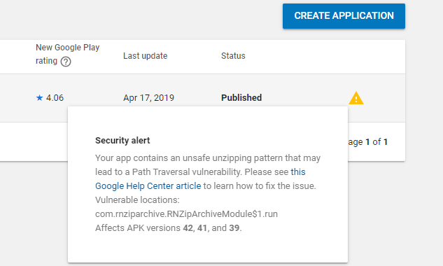 Android] Fixing a Zip Path Traversal Vulnerability · Issue