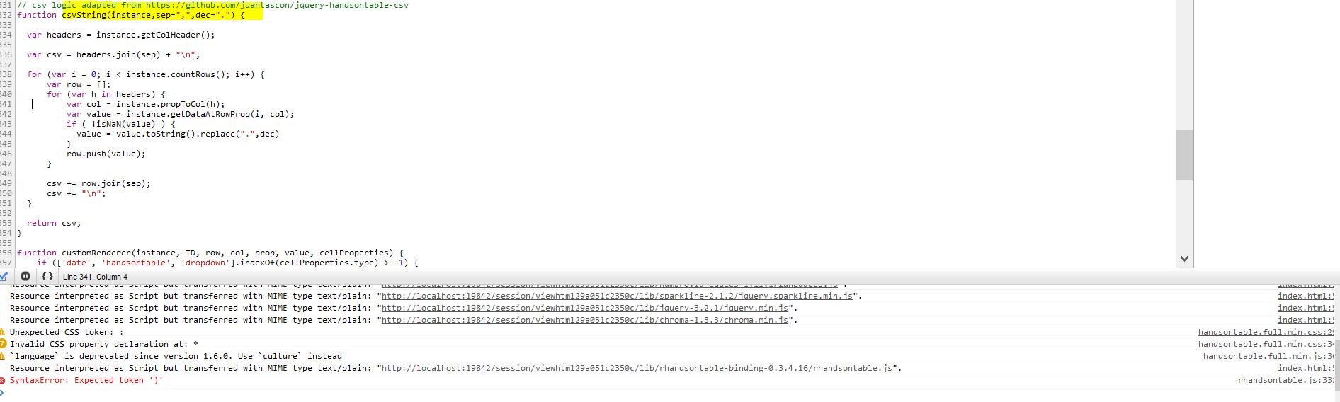 Github dev version not rendering table · Issue #210 · jrowen