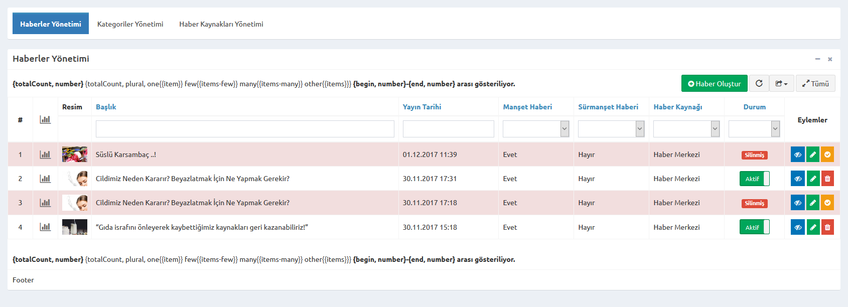 Summary text display error · Issue #732 · kartik-v/yii2-grid