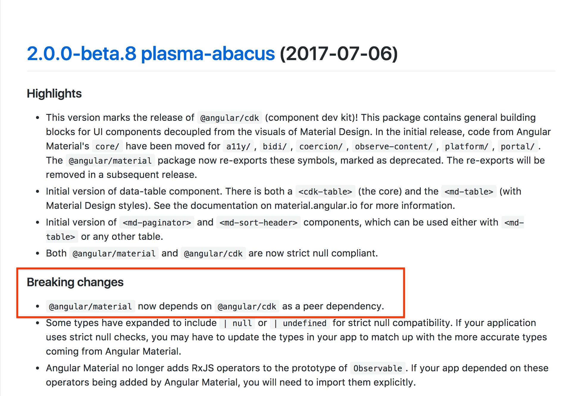 unmet dependency angular/cdk · Issue #5320 · angular/components · GitHub