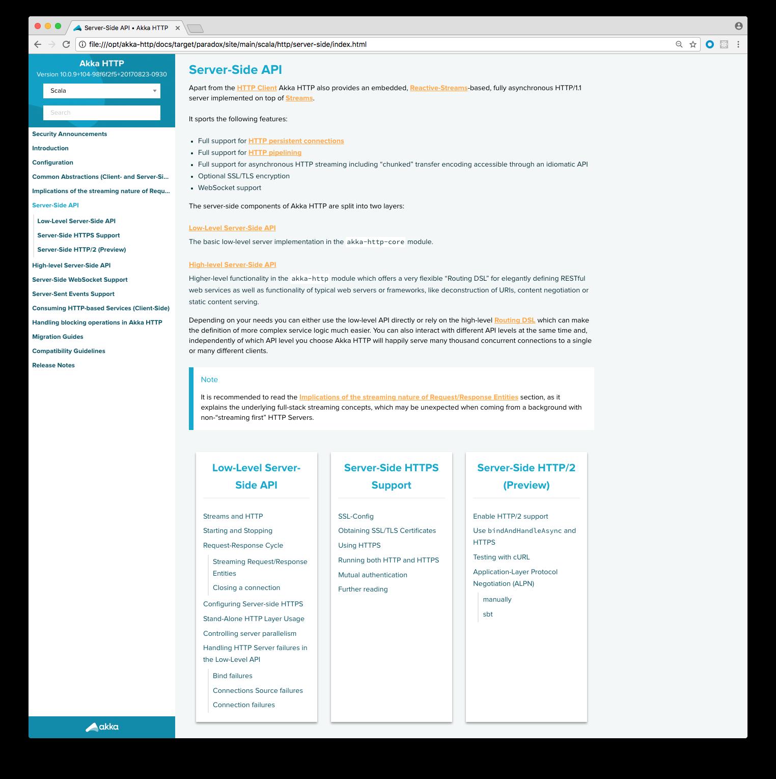 doc Add server-side overview page · Issue #1371 · akka/akka