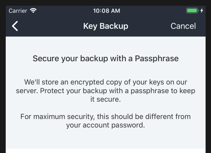 Key backup: