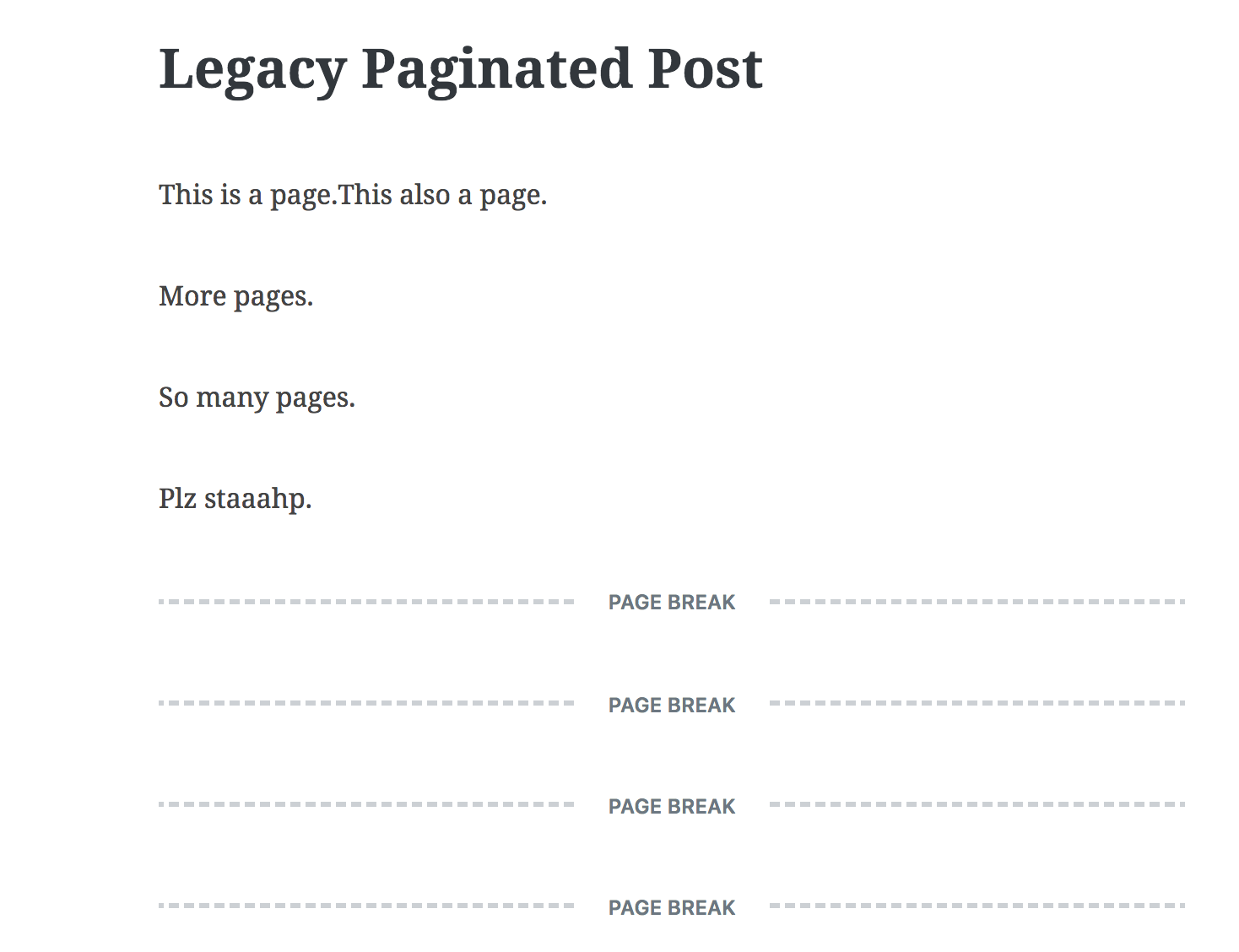 page after