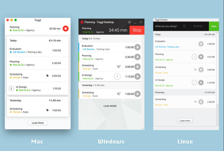 Toggl Desktop apps