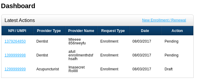several-enrollments