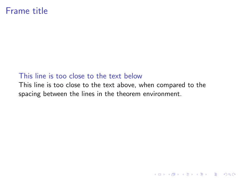 Spacing between block title and contents is off · Issue #307