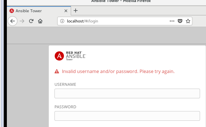 why ansible tower installation success but cannot login · Issue