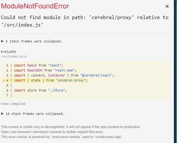 Error in CodeSandbox - Could not find module in path