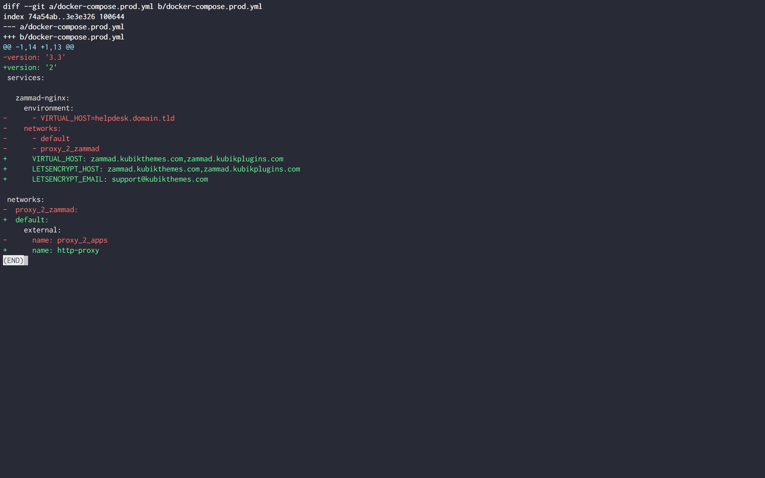 Bad gateway after update · Issue #61 · zammad/zammad-docker-compose