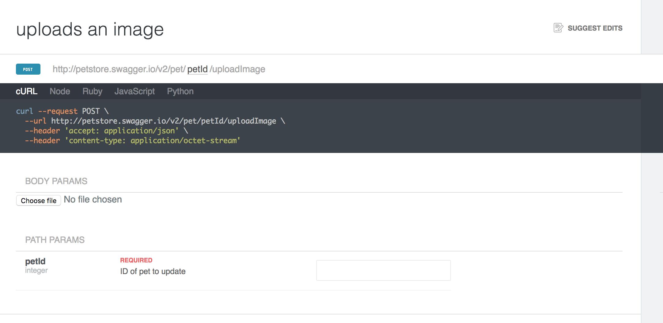 Make multipart file uploads work · Issue #99 · readmeio/api-explorer