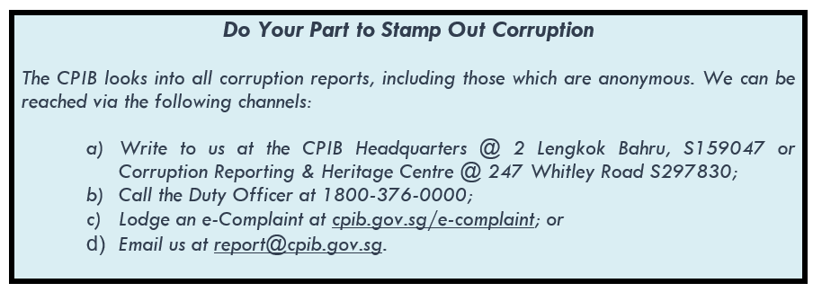 Stamp Out Corruption