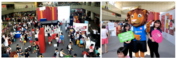 Unite Against Corruption exhibition cum roadshow held at Toa Payoh HDB Hub