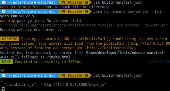 The manifest json is not created when i enable