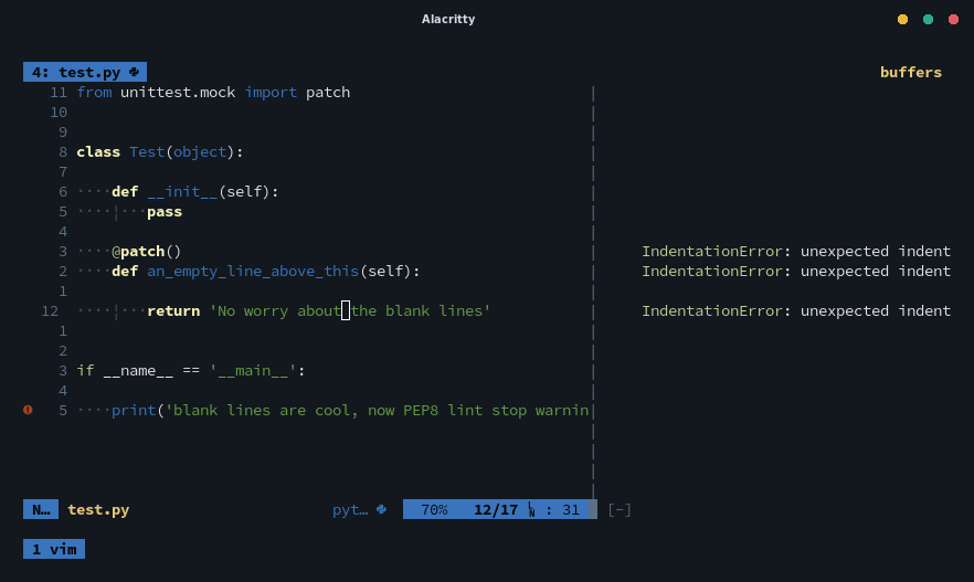 Python Indentationerror When Class Method Has Decorator