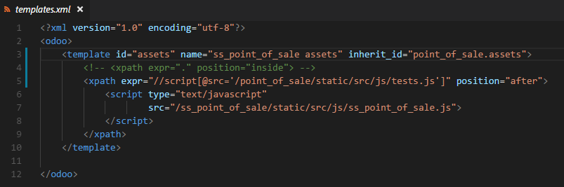 Point of Sale not loading javascript files defined in custom modules