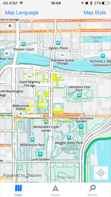 bike map mode should disable walking network · Issue #347 · mapzen Chicago Walking Tour Map on