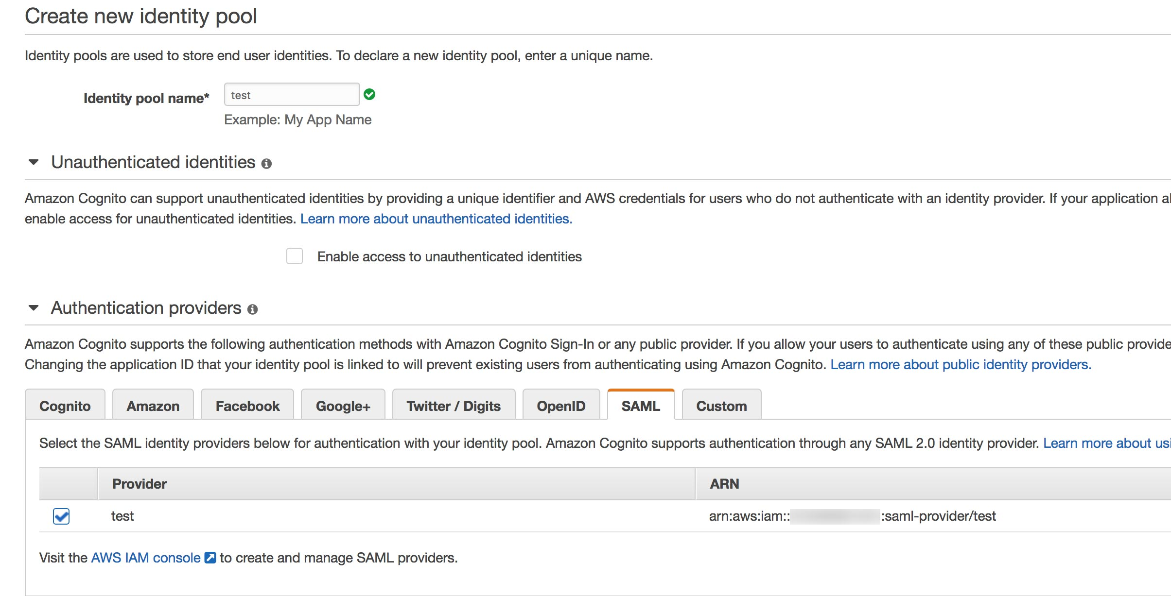Support for Cognito Identity Provider · Issue #3279