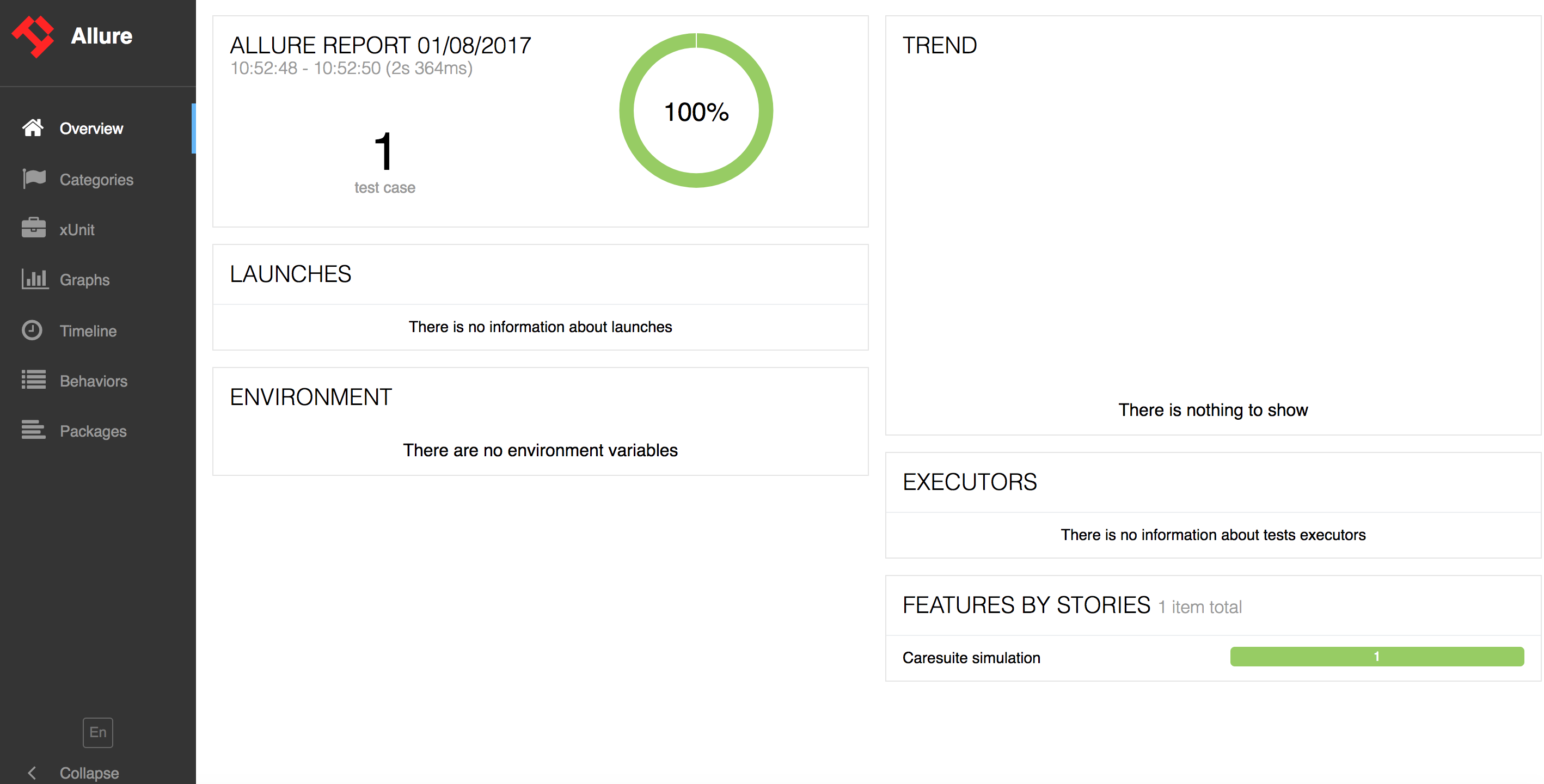 Allure2 report differs depending if report is generated by allure