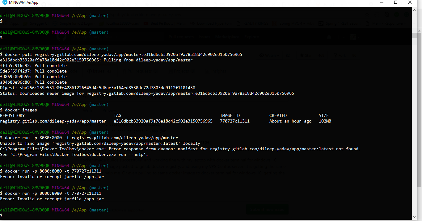 How to connect MySQL docker container with spring boot app