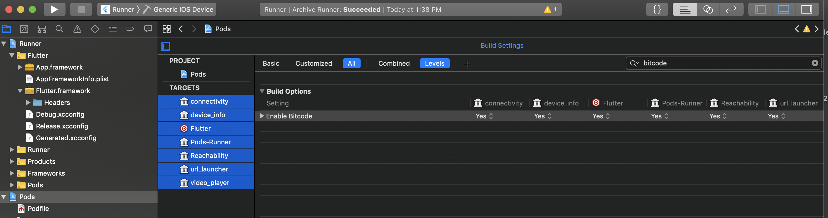 Xcode settings with plugins
