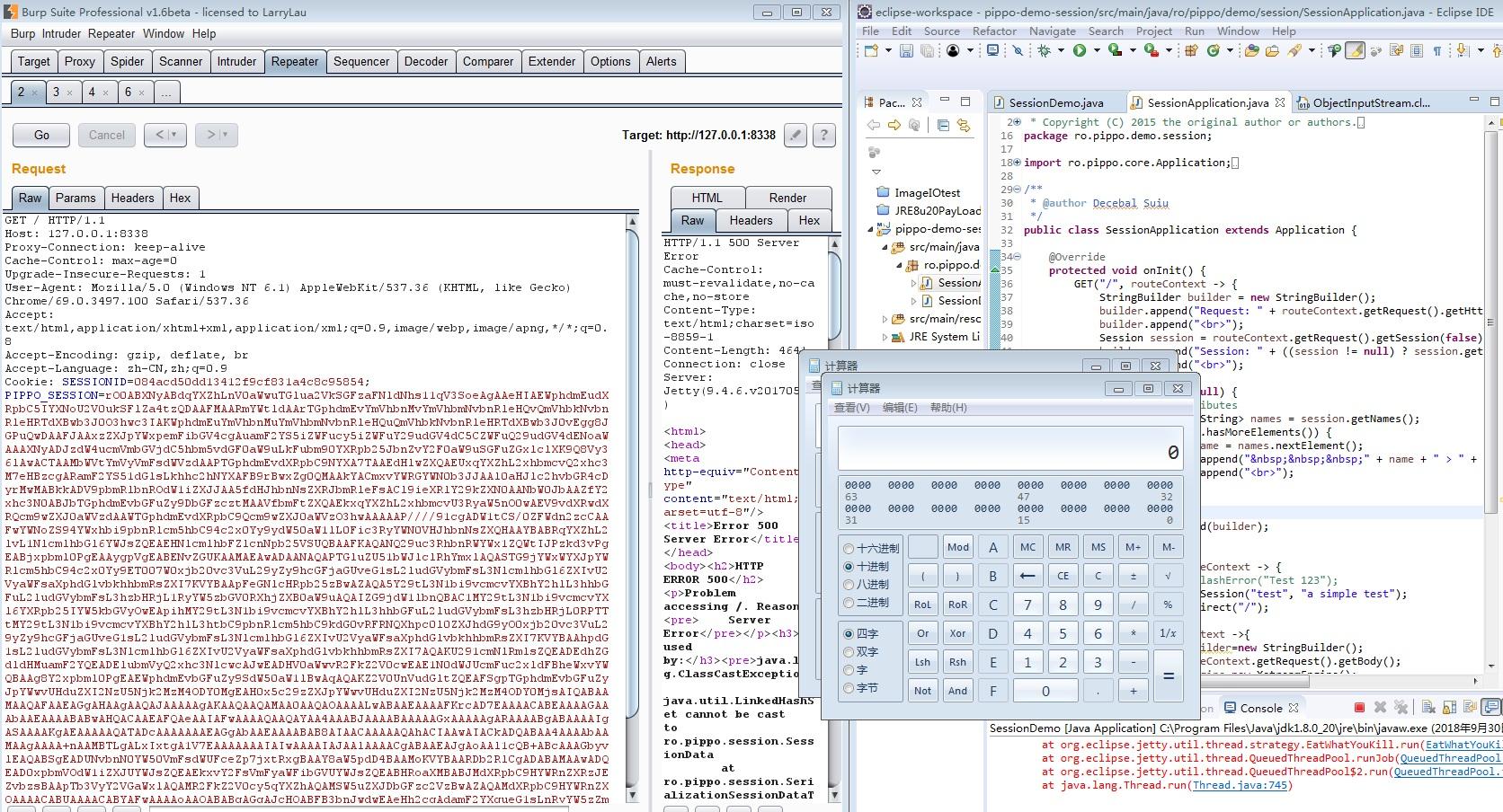 Java deserialization vulnerability in