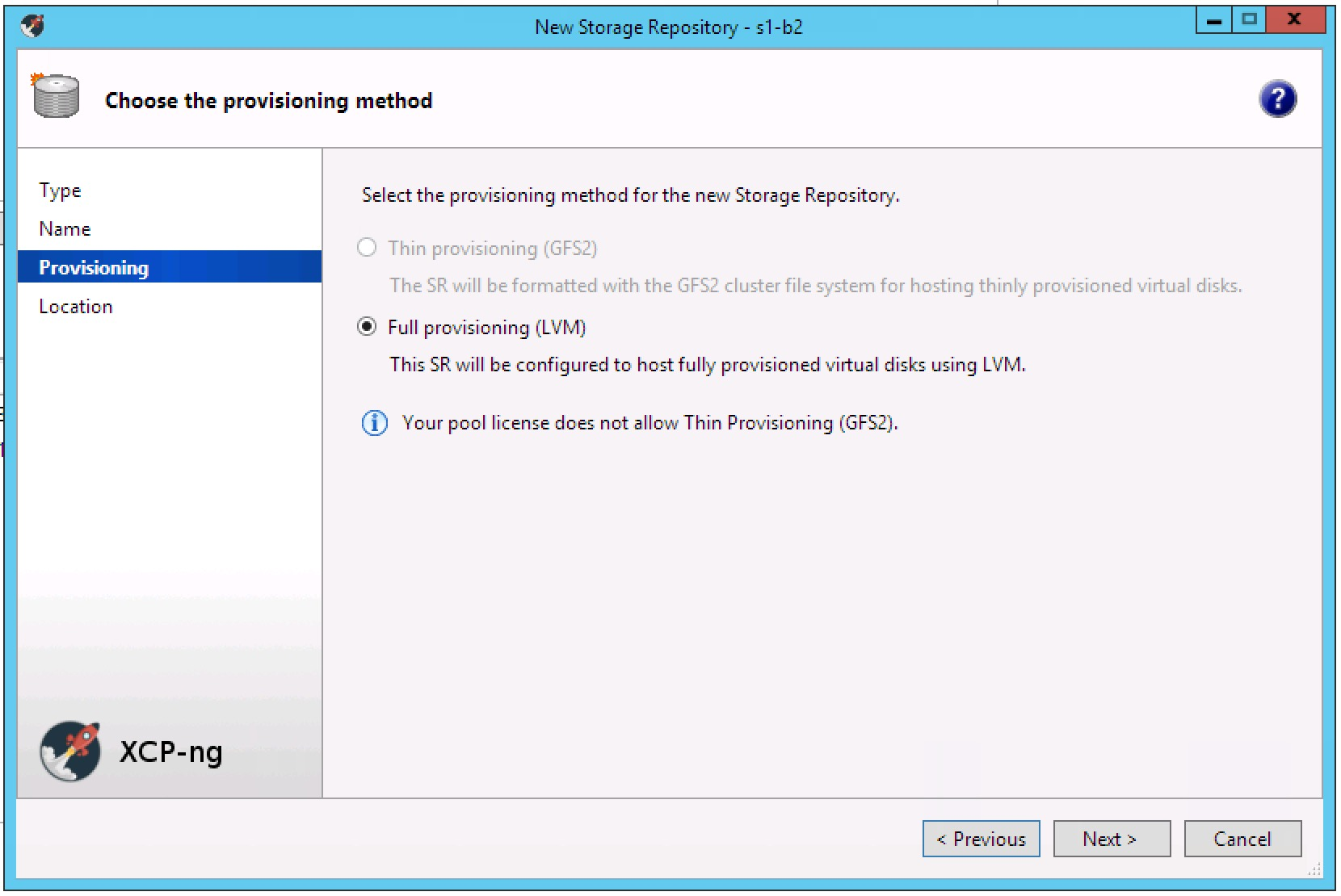 Can't create new iSCSI (LVM) SR - get error about GFS2