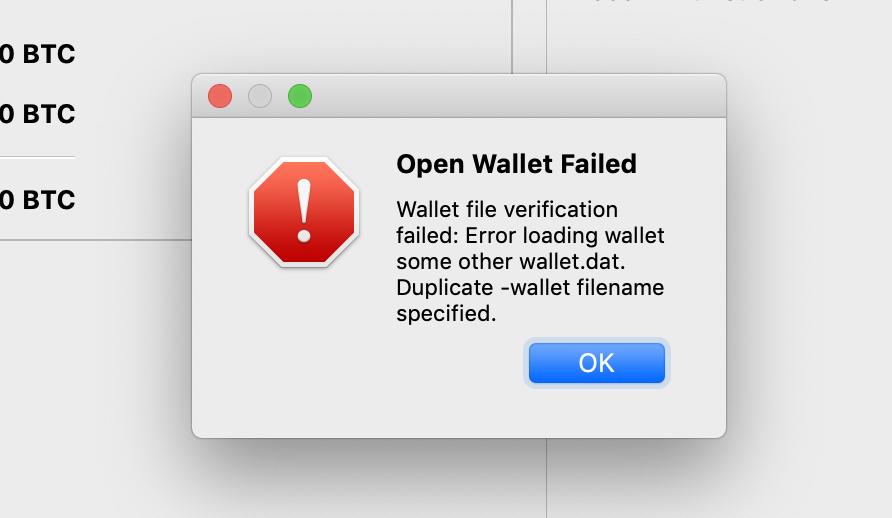 duplicate wallet loading