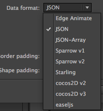 Support for Native Animate CC Atlas format · Issue #4273