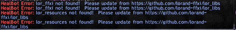 HealBot No longer loads with recent changes · Issue #24