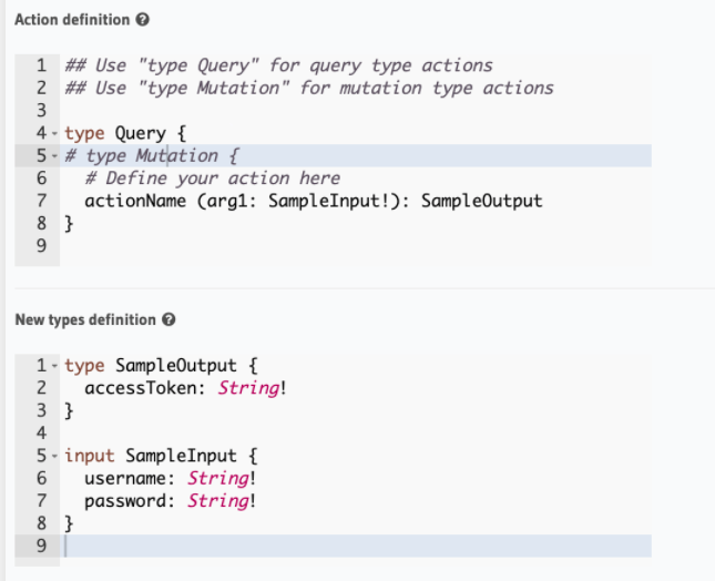 query-actions