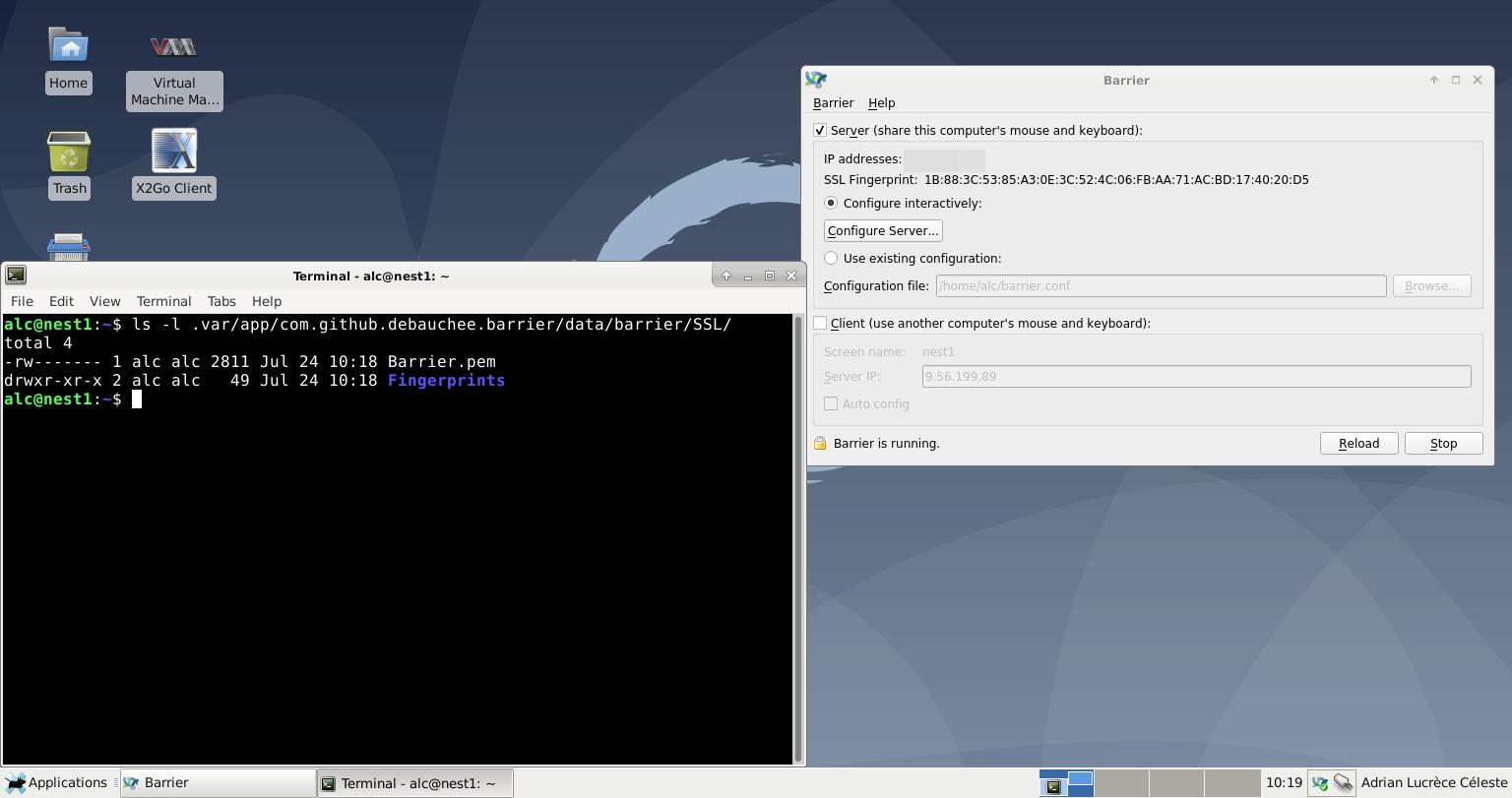 Fresh Barrier Install Shows is:openERROR: ssl certificate