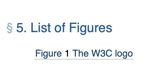 Screenshot showing a list of figures