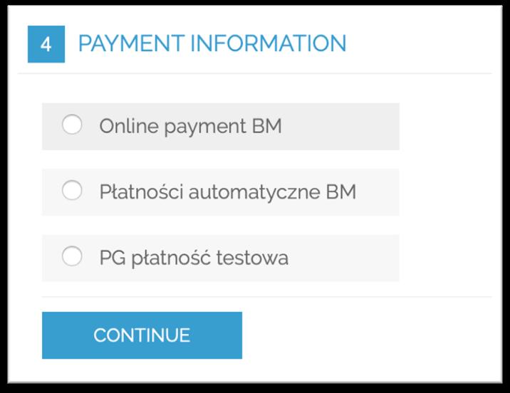 Osobne metody płatności