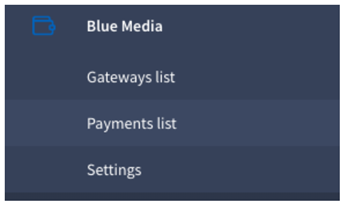 Payment list