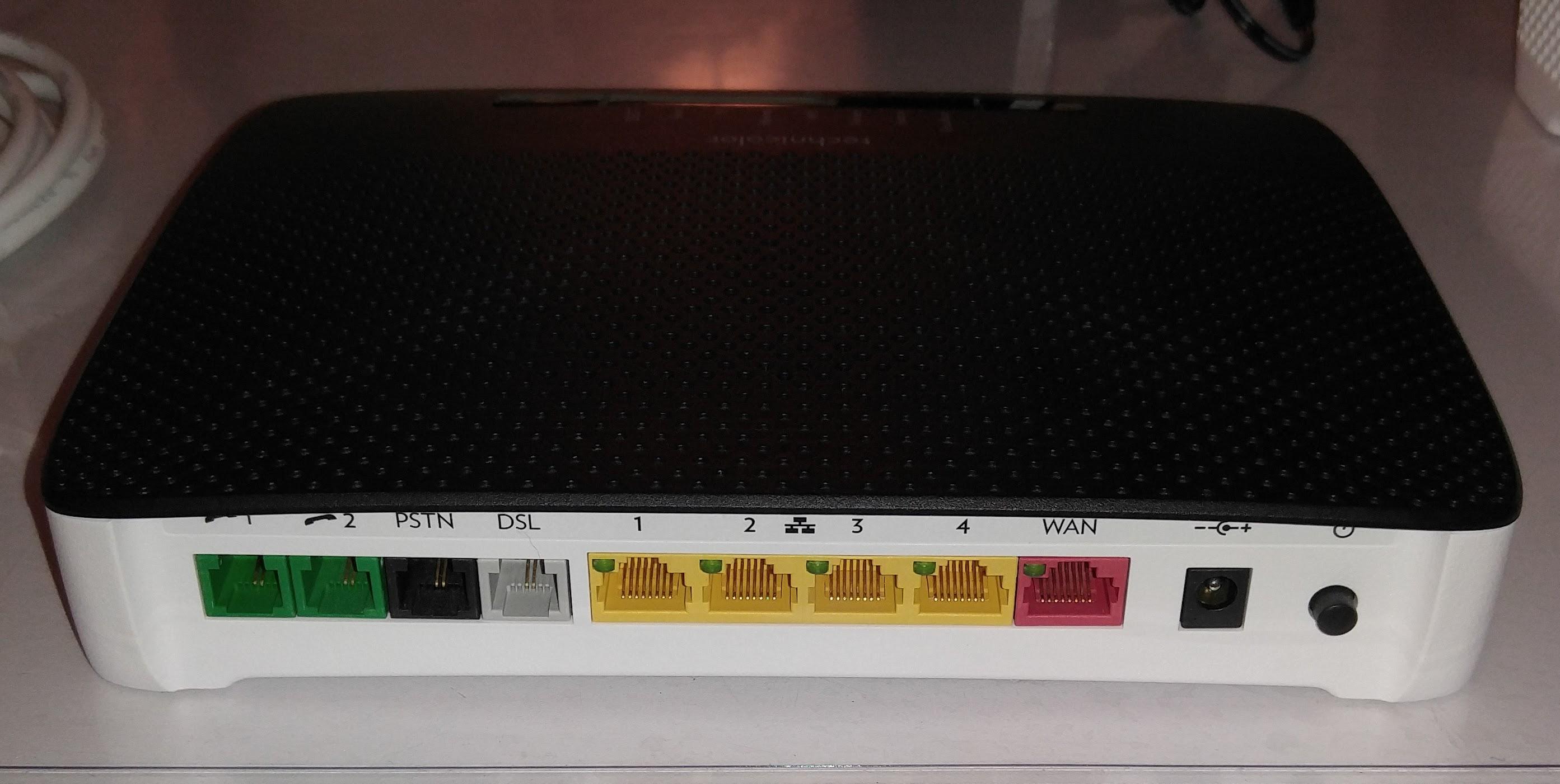 technicolor tg799tsvn v2 problem