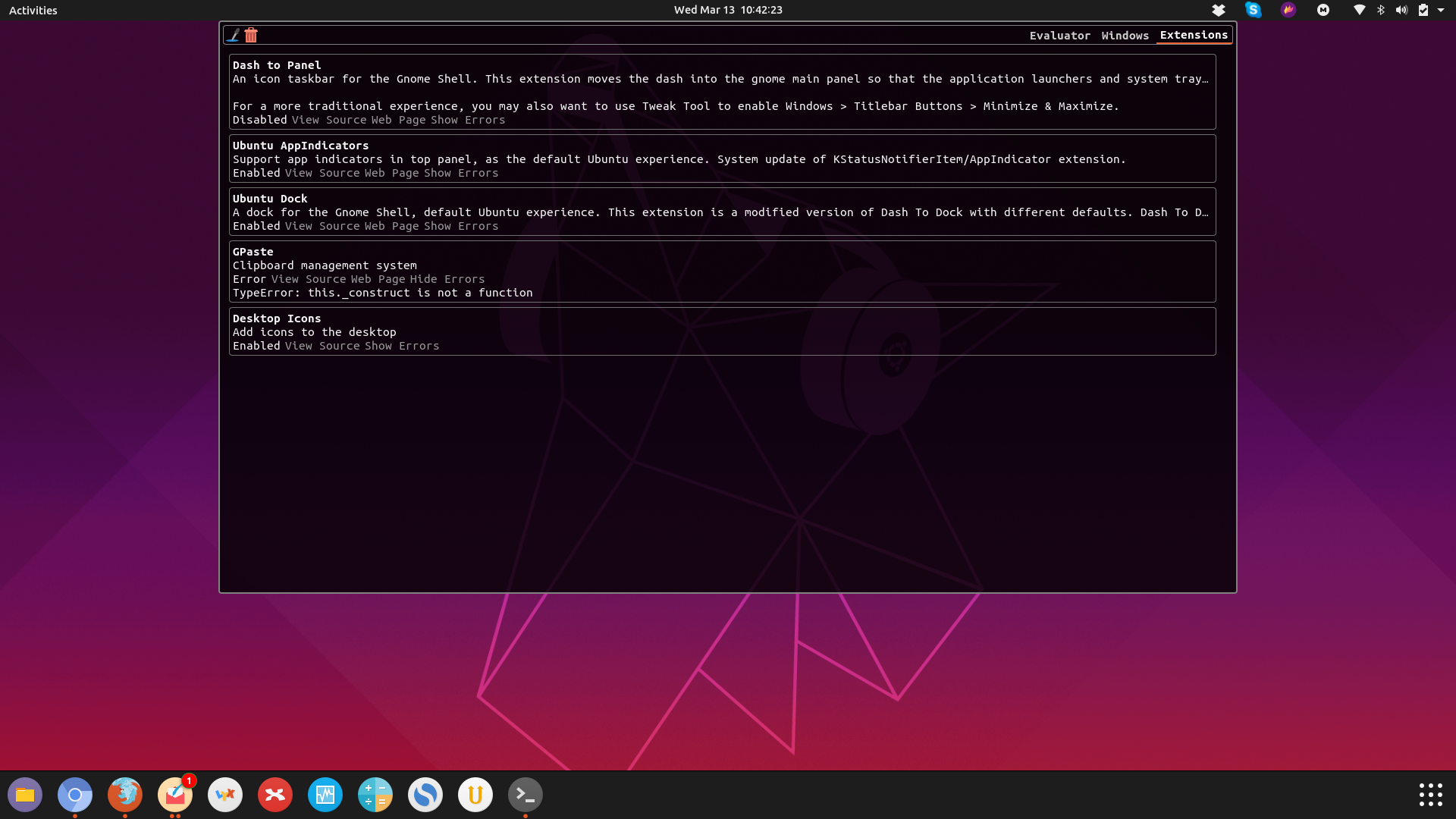 Ubuntu 19 04 - gnome-shell-extensions-gpaste no longer works · Issue