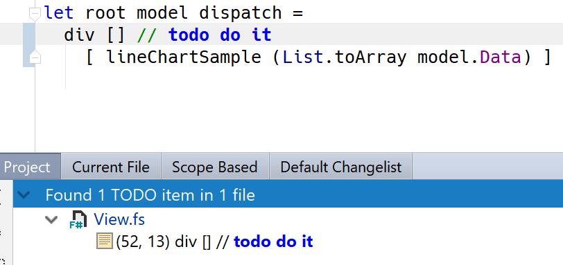 Visual Studio Task List Support (e g  // TODO:    ) · Issue