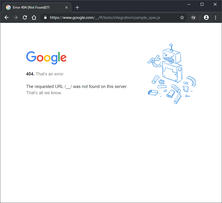 Chrome cy visit breaks testpage, but works in Electron