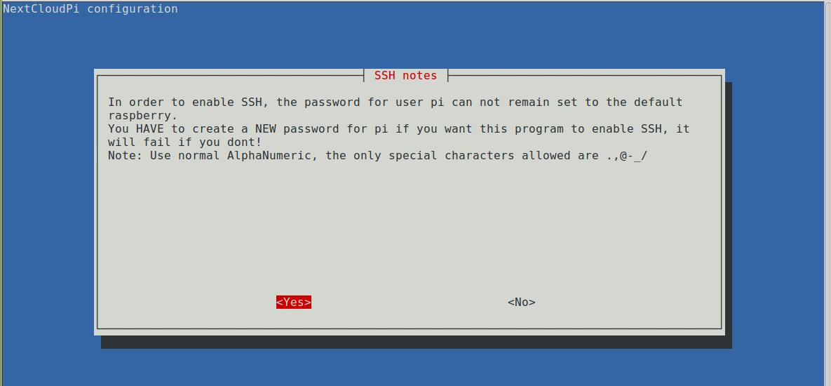 Extra ssh instructions screenshot